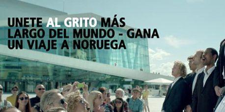 Campaña de publicidad Grita conmigo, Grita Con Noruega