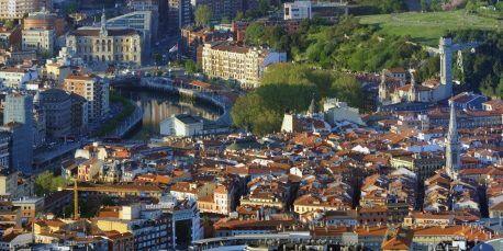 Vista aerea de Bilbao